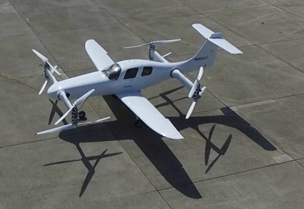 Beta's eVTOL - Early specifications of the aircraft show a top speed of 170 mph and a range of 150 miles. The eight rotors are powered by two on-board batteries.