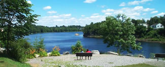 250th Anniversary Park  is  an in-town park located on the banks of the Androscoggin River just below the Brookfield Renewable Energy hydroelectric dam