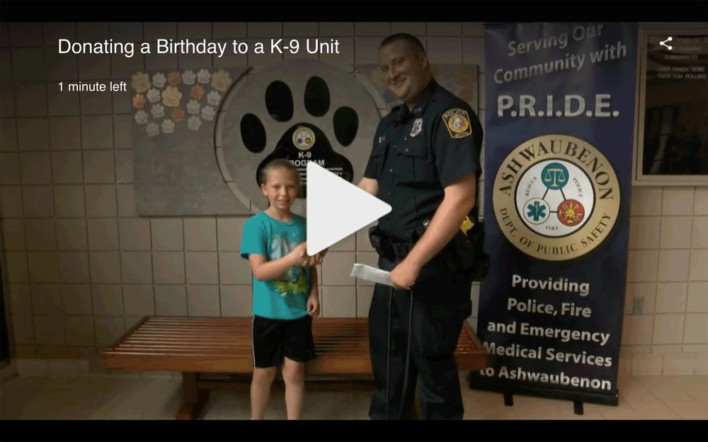 A Charitable Birthday Benefitting a K-9 Unit