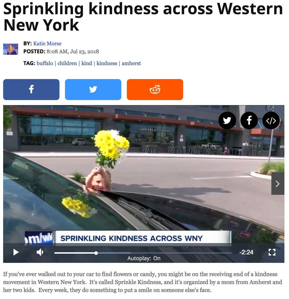 NY Family Sprinkles Kindness Throughout Community