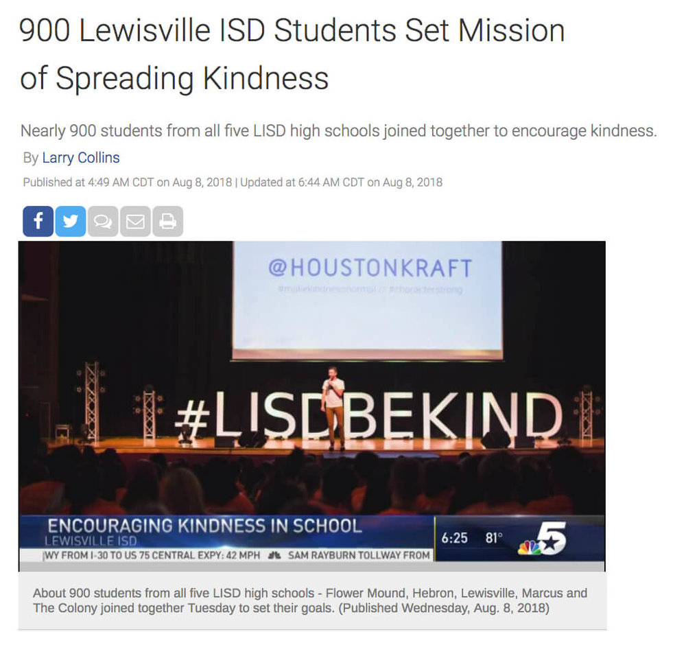 LISD Kindness Convocation