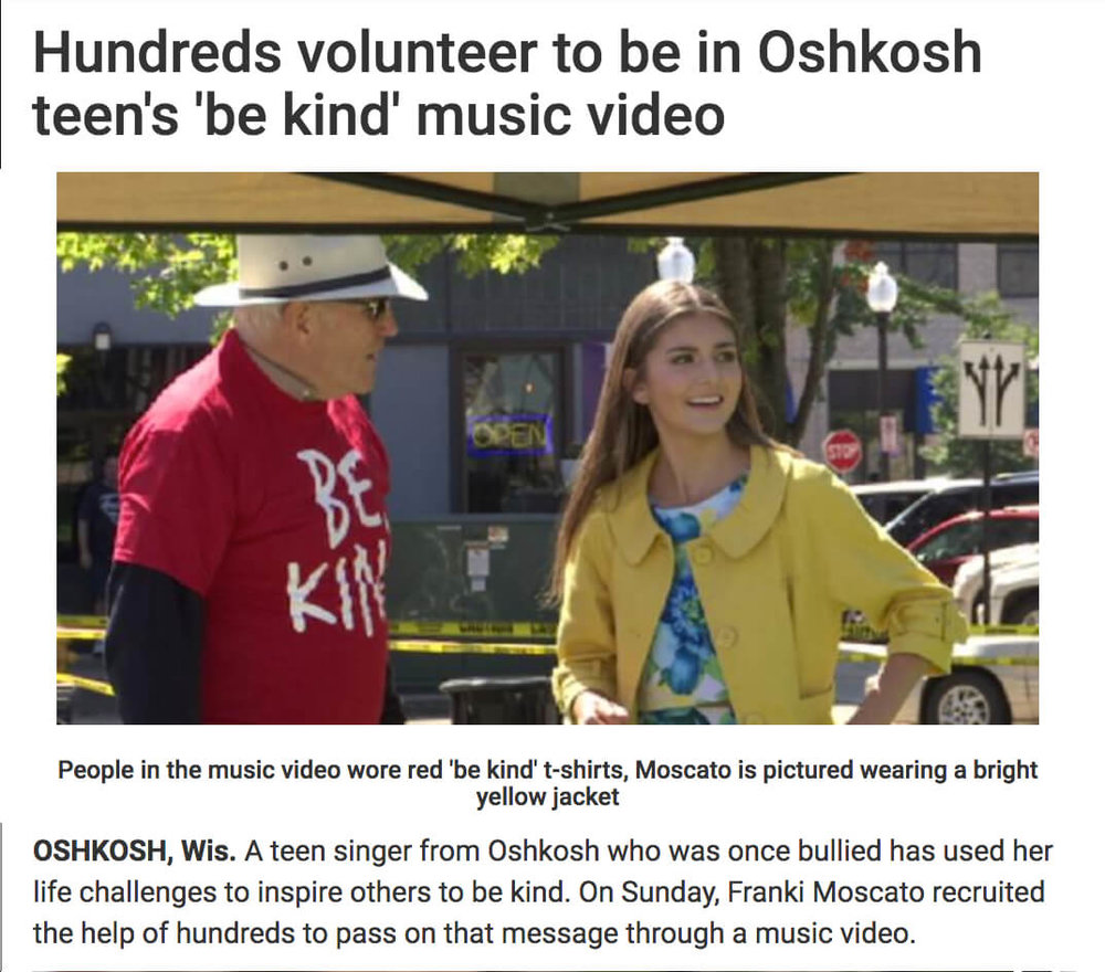 Oshkosh Be Kind Music Video Flash Mob