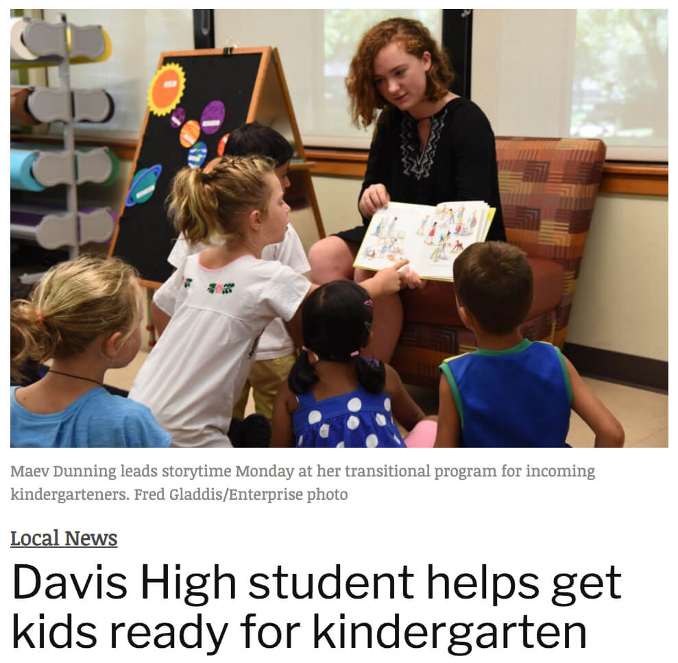 Davis High Student Starts Kindergarten Readiness Program