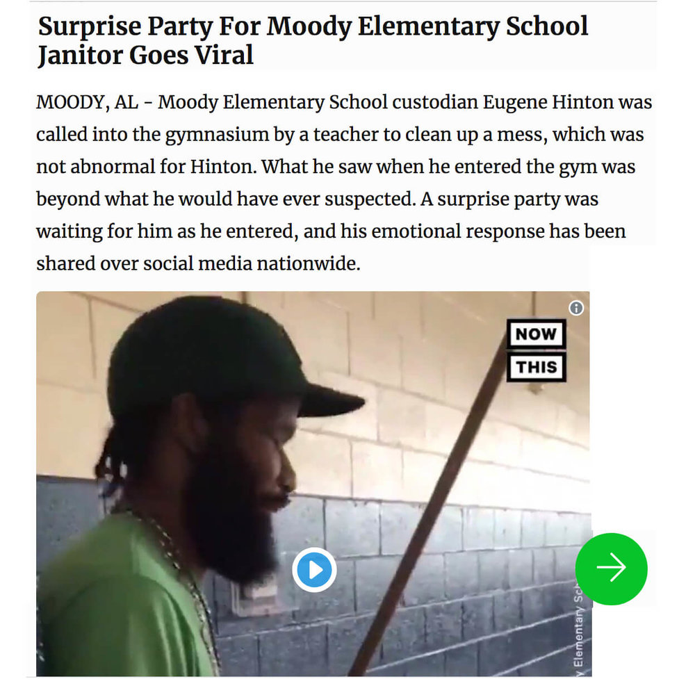 Janitor Surprise Party