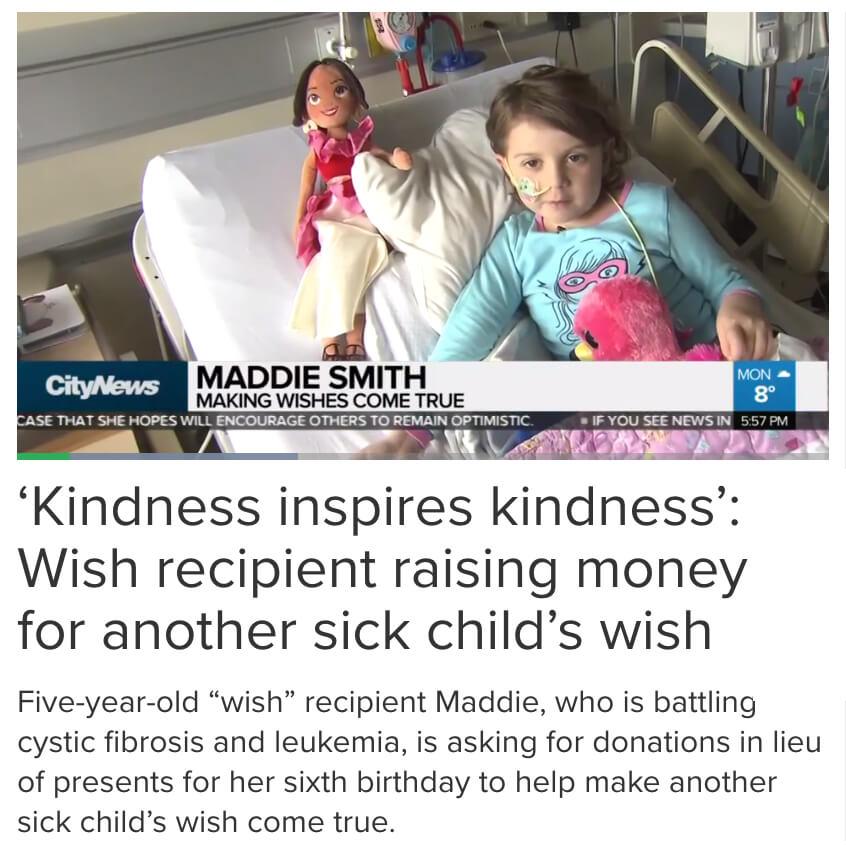 Wish Child Raises Money for Another Child's Wish