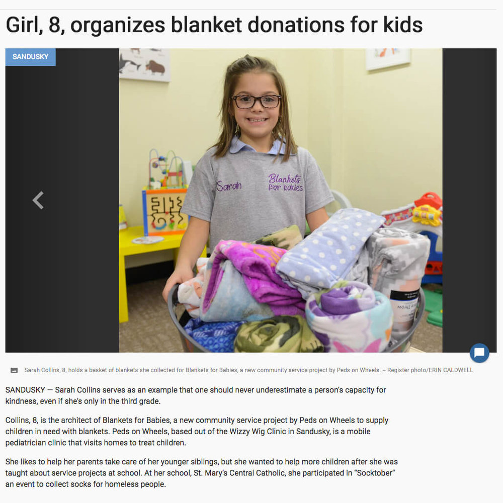 Blanket Donations for Kids