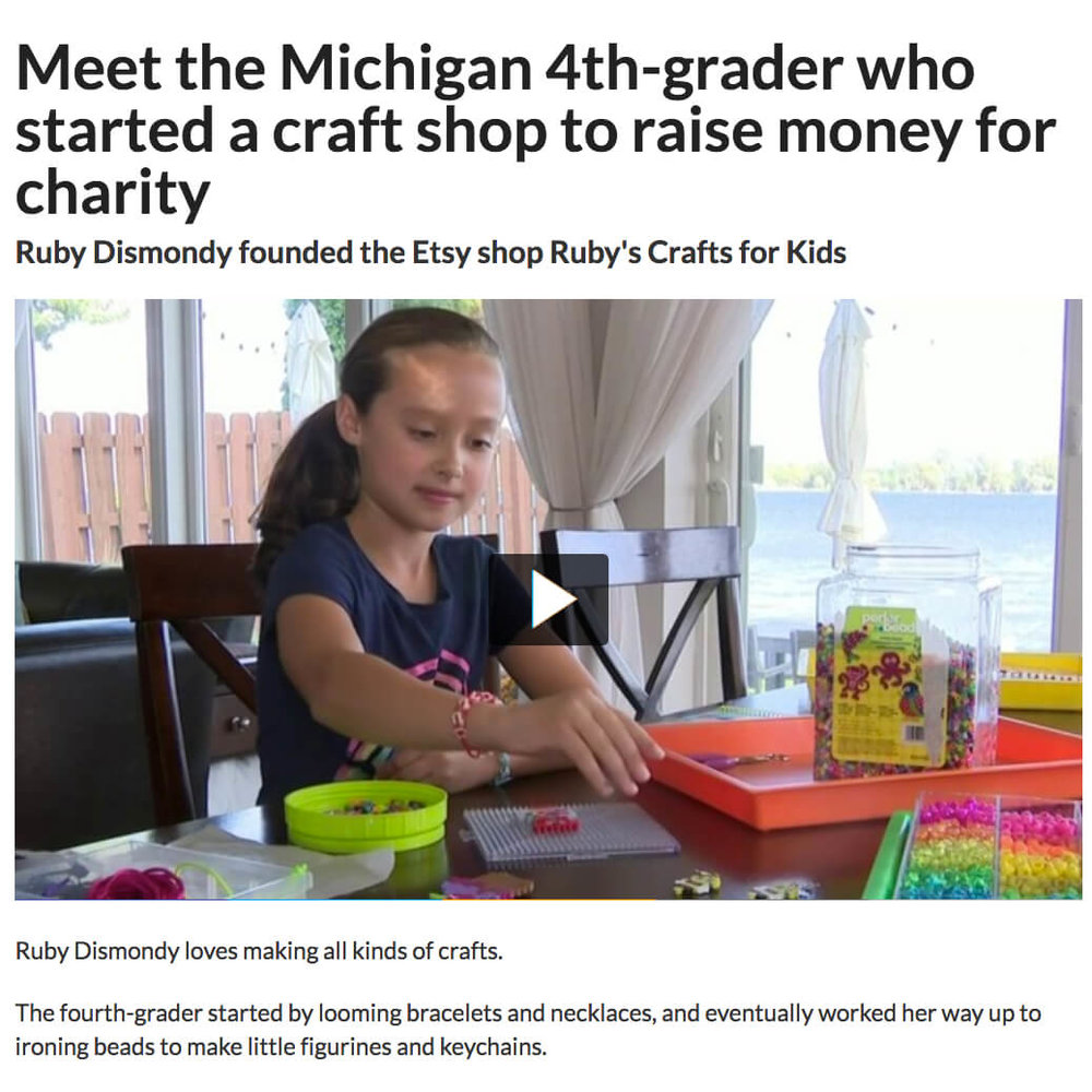 Fourth Grade Etsy Shop for Charity
