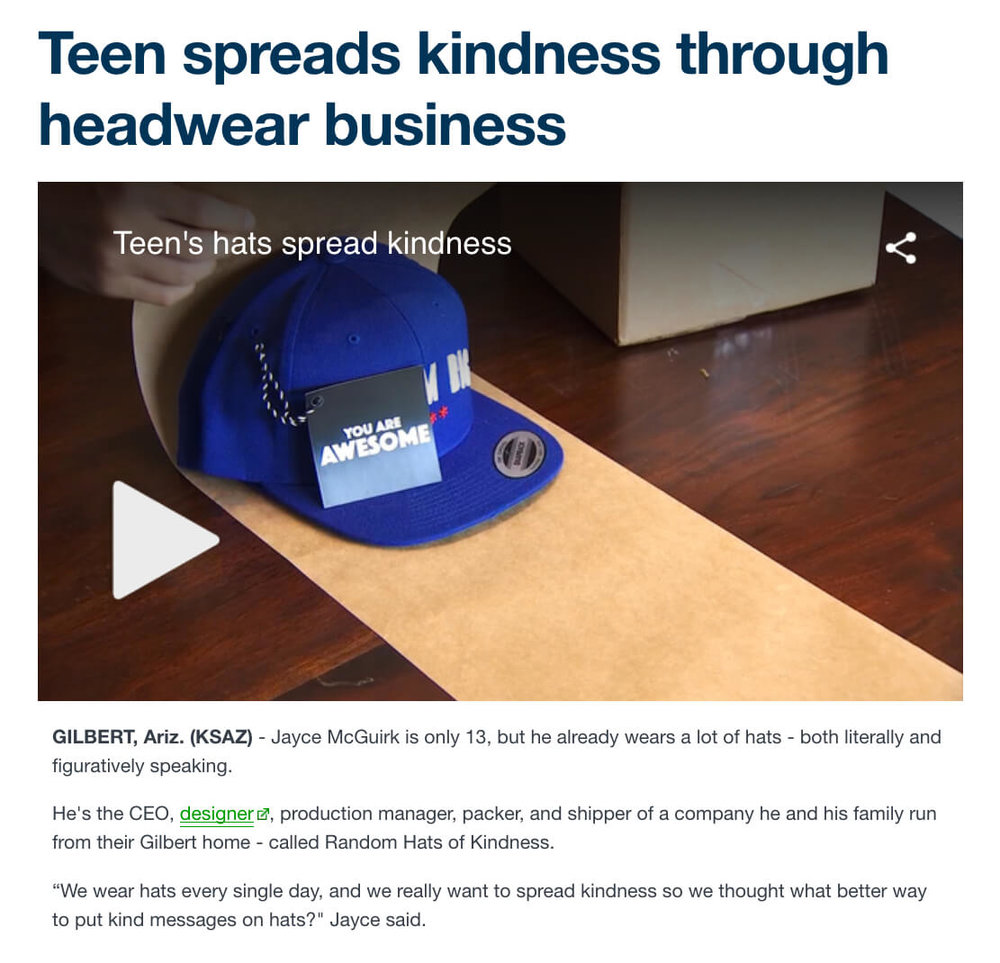 Random Hats of Kindness