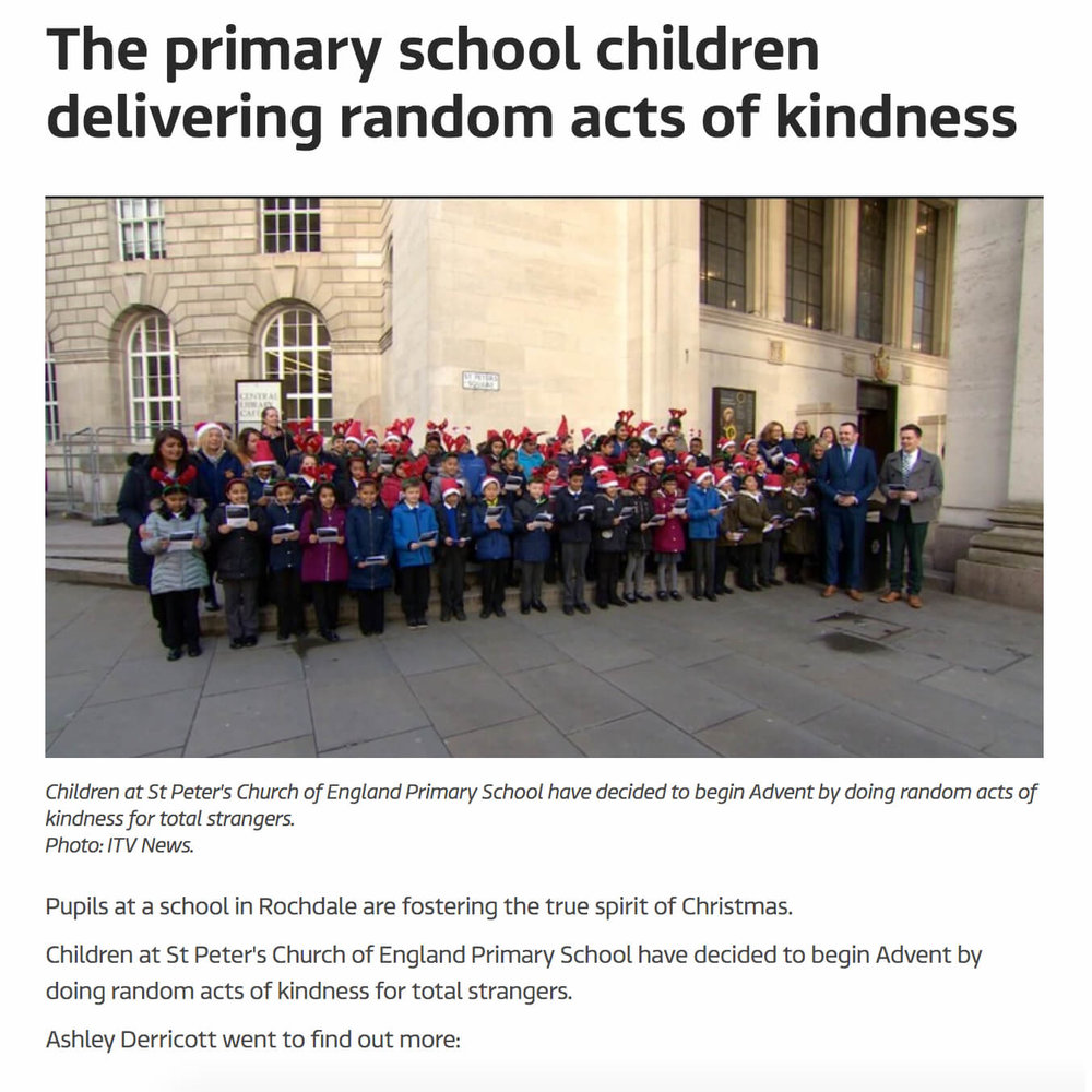 Manchester Primary School Random Acts of Kindness