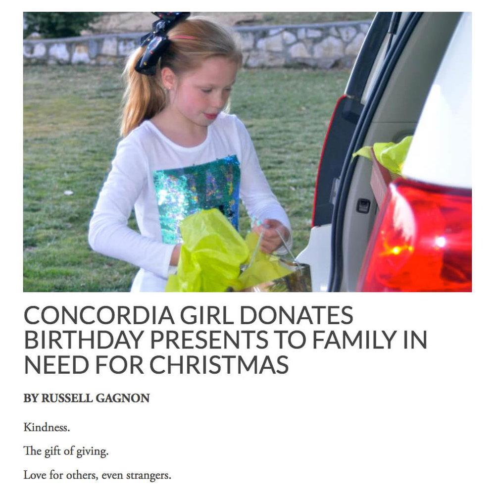 Girl Donates Birthday Presents at Christmas.jpg