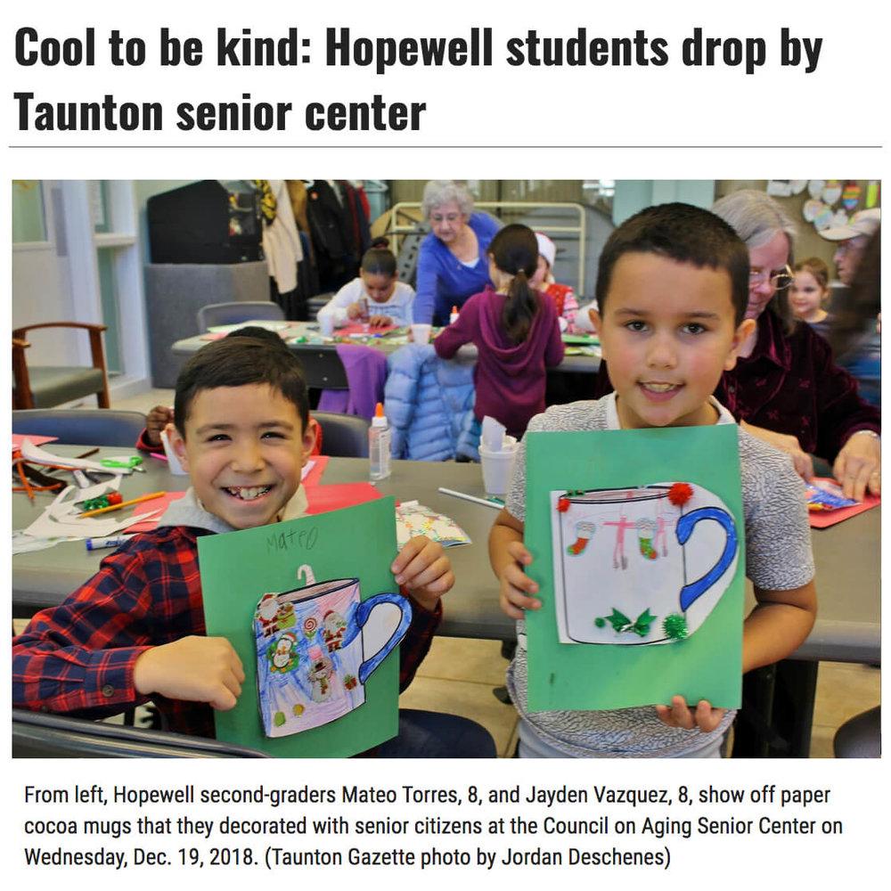 Hopewell Students Taunton Senior Center