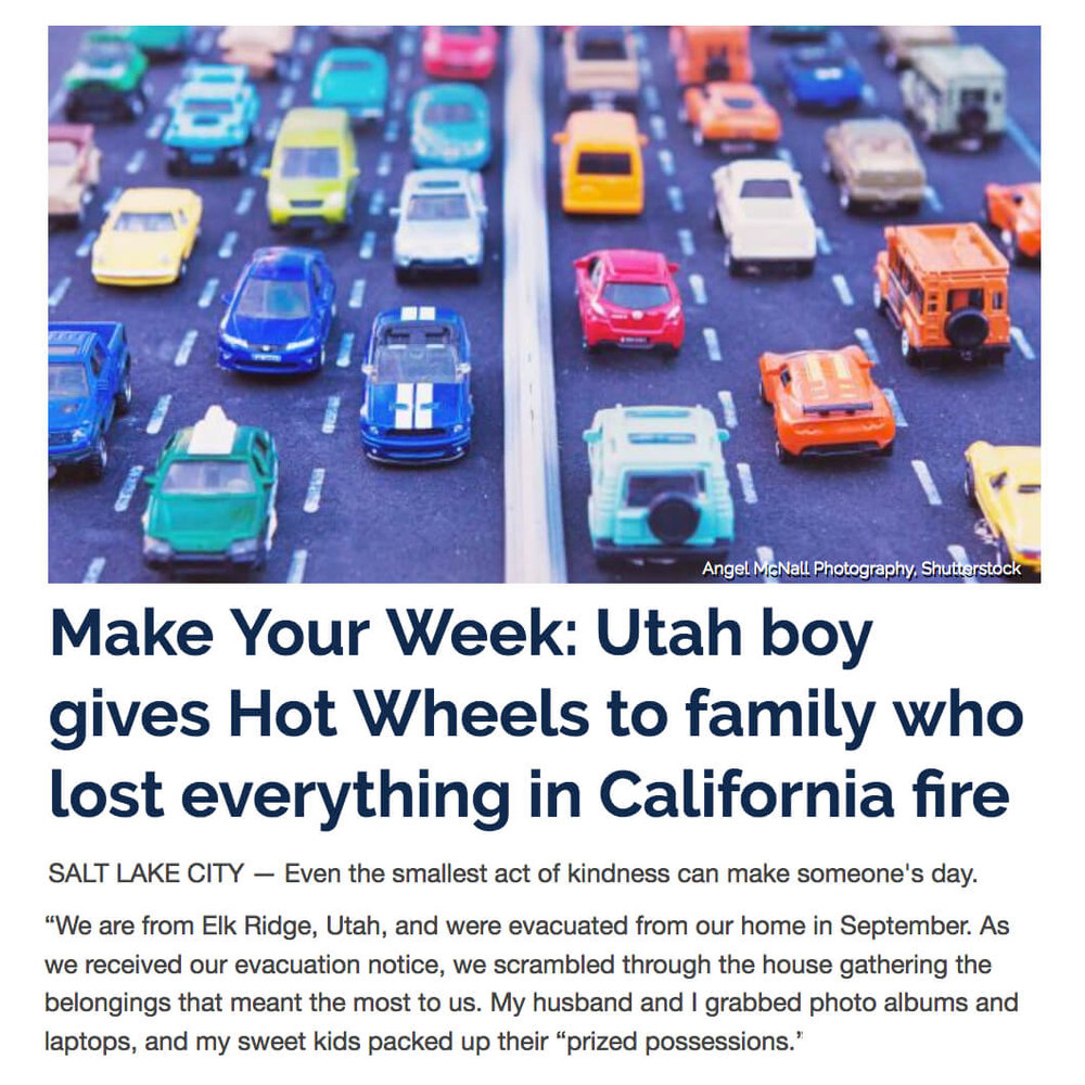 Boy Donates Hot Wheels After Fire