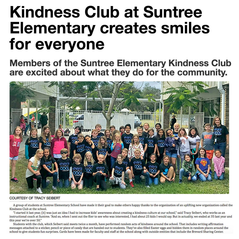 Suntree Elementary Kindness Club