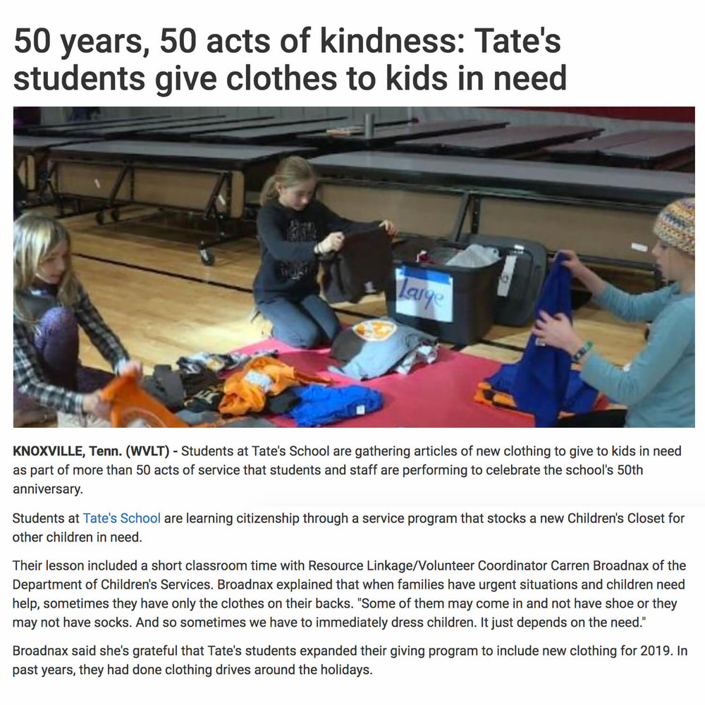 50 Acts of Kindness for 50 Years