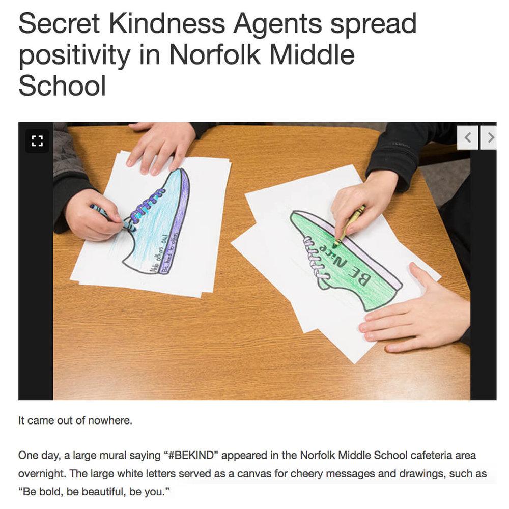 Secret Kindness Agents at Norfolk Middle