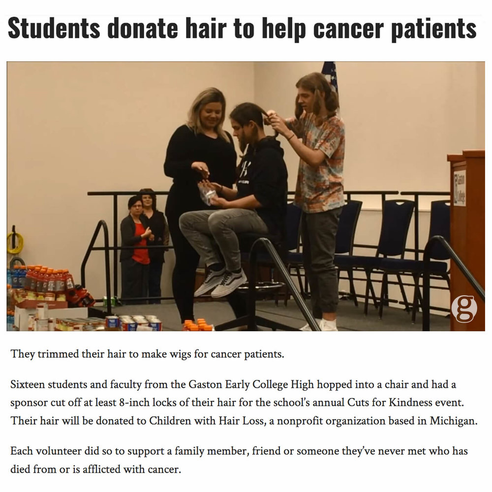 Students Donate Hair