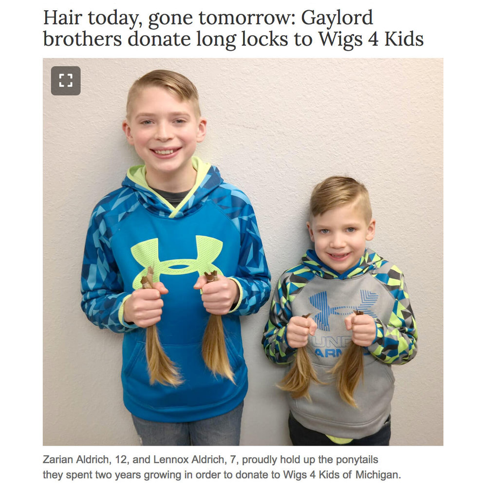 Brothers donate hair to Wigs for Kids