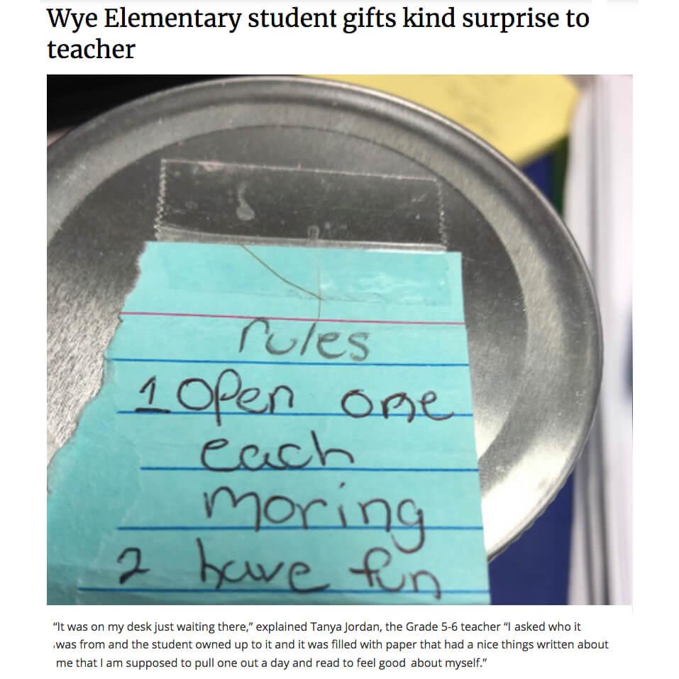 Kindness Jar for Teacher