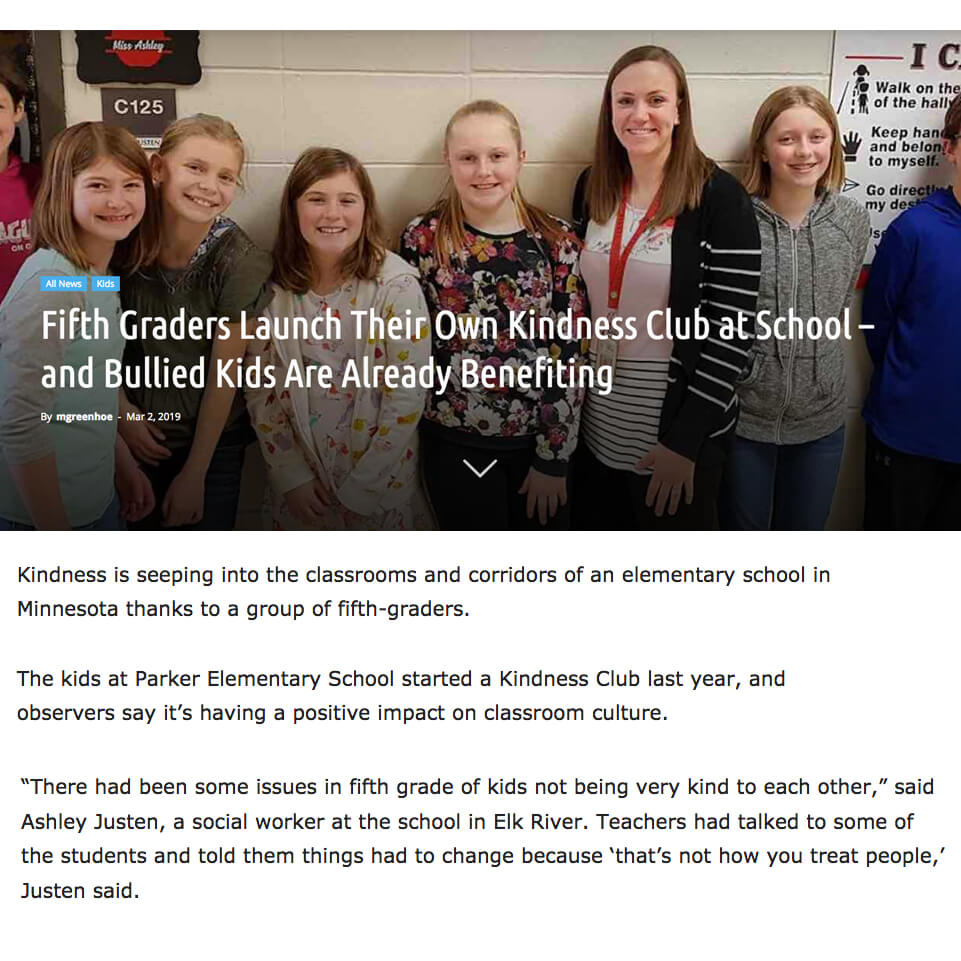 Fifth Grade Kindness Club