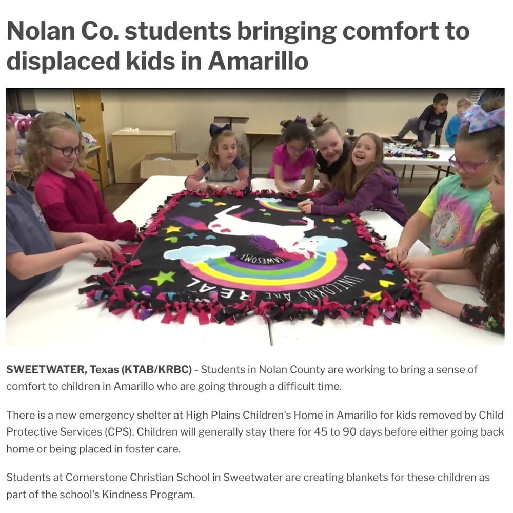 Blankets for Child Protective Services