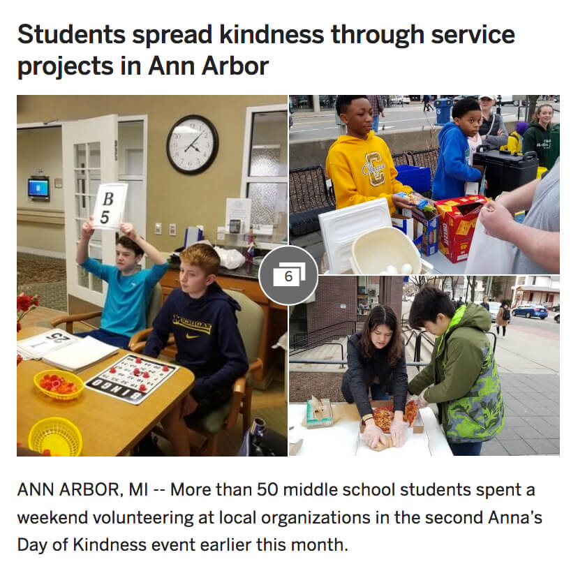 Anna's Day of Kindness