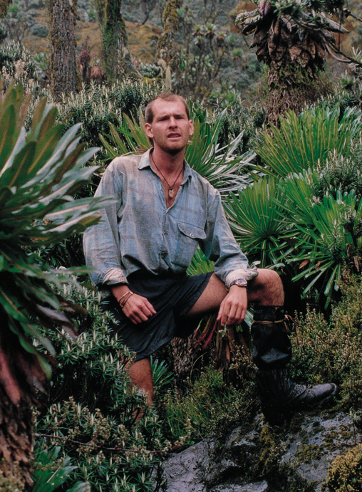 Yes, once upon a time Warren had legs; seen here in Africa's Ruwenzori Mountains circa 1991.