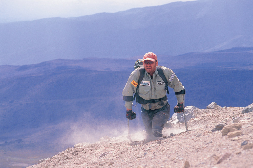 Warren Macdonald. Arrow Glaicier; Mt. Kilimanjaro. Photo: Jeremy Smith.