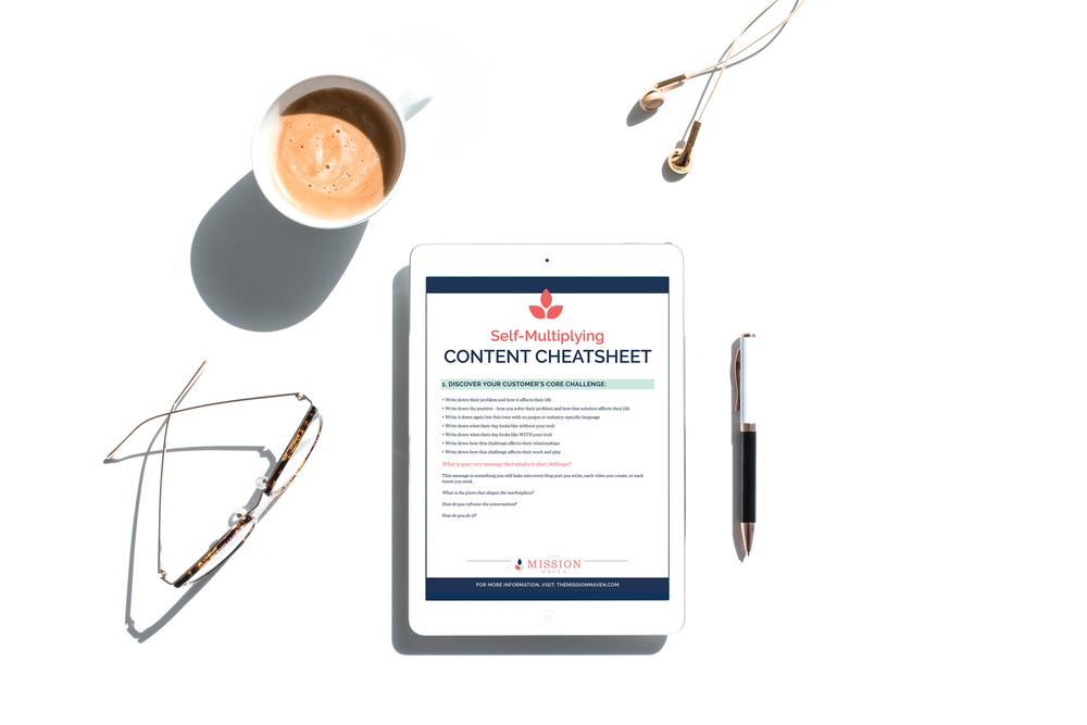 messaging and content cheatsheet