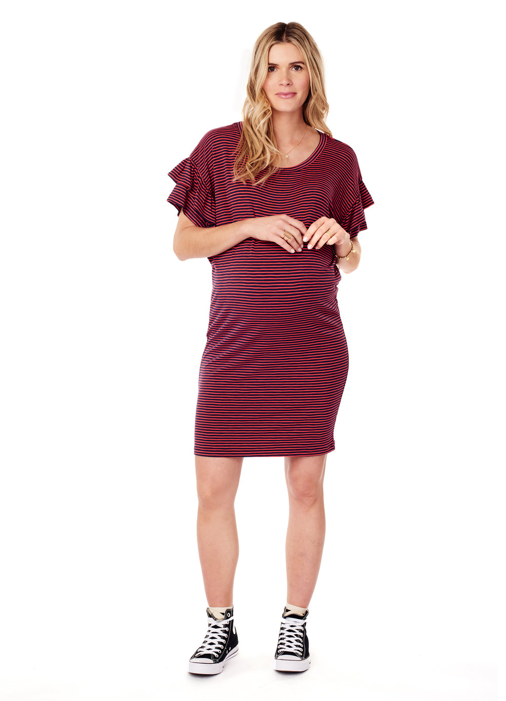 Ruffle Sleeve T-Shirt Dress • Ingrid & Isabel Maternity