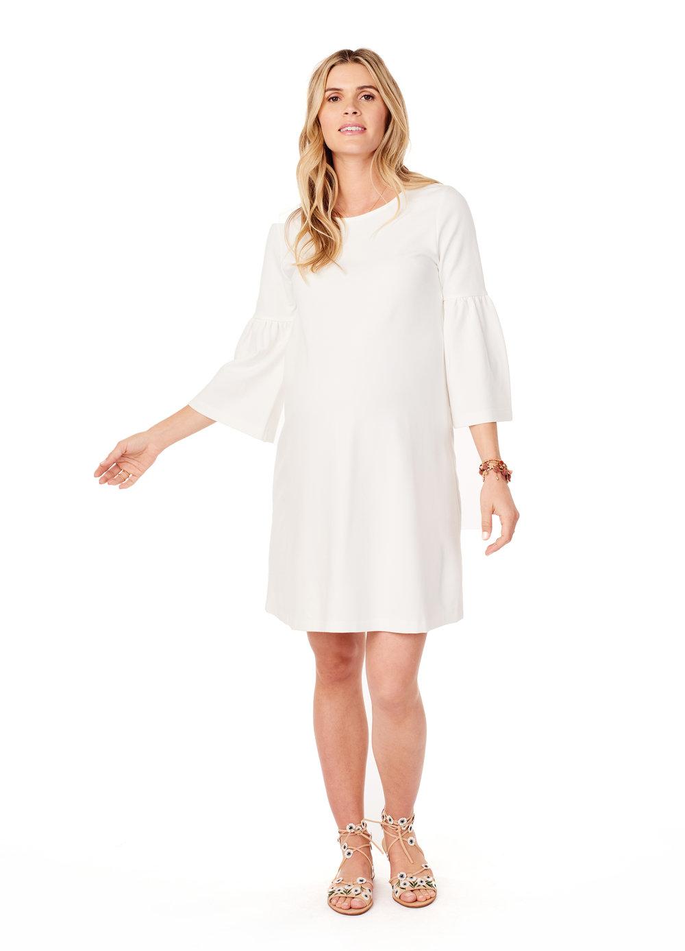 Ponte Bell Sleeve Dress • Ingrid & Isabel Maternity