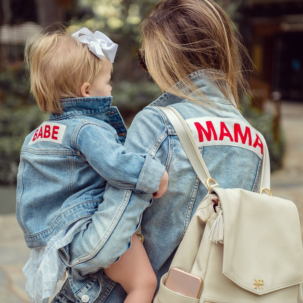 Mama Denim Jacket / Ingrid & Isabel Maternity • @kateireneblue