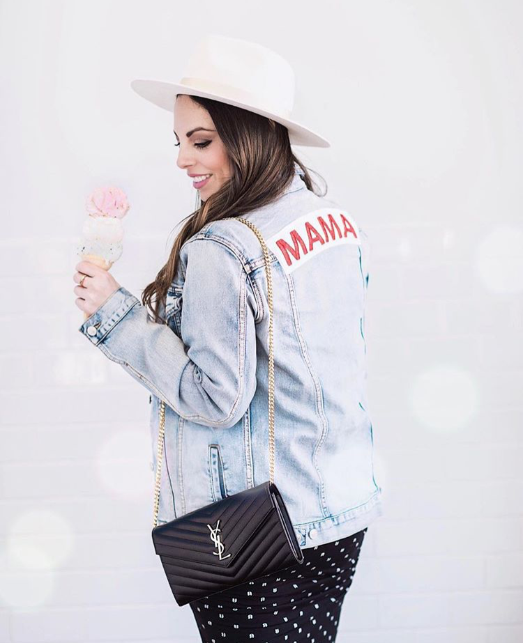 Mama Denim Jacket / Ingrid & Isabel Maternity • @alexandra_lourdes