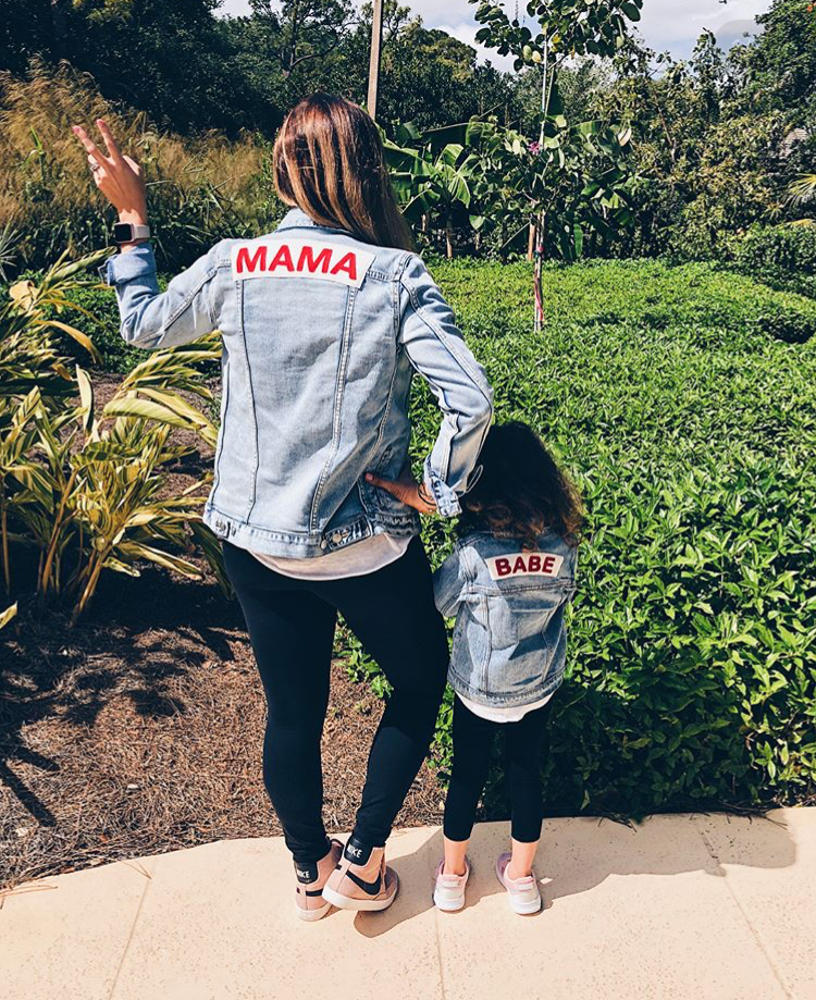 Mama Denim Jacket / Ingrid & Isabel Maternity • @indianapoliswives