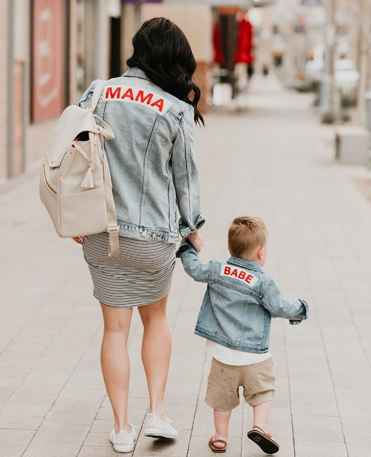 Mama Denim Jacket / Ingrid & Isabel Maternity • @laurenjparry