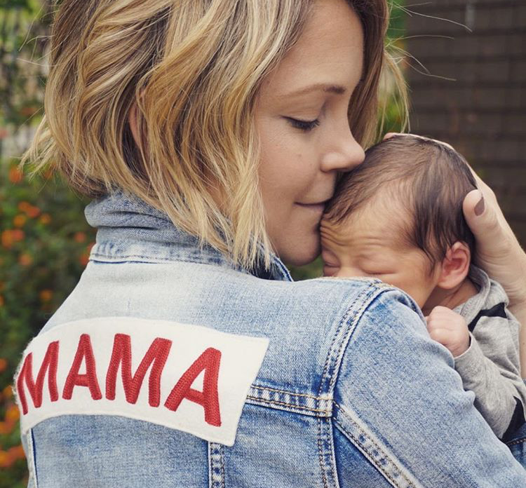 Mama Denim Jacket / Ingrid & Isabel Maternity • @taytayolay