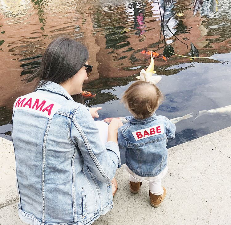 Mama Denim Jacket / Ingrid & Isabel Maternity • @kristen_louise_smith