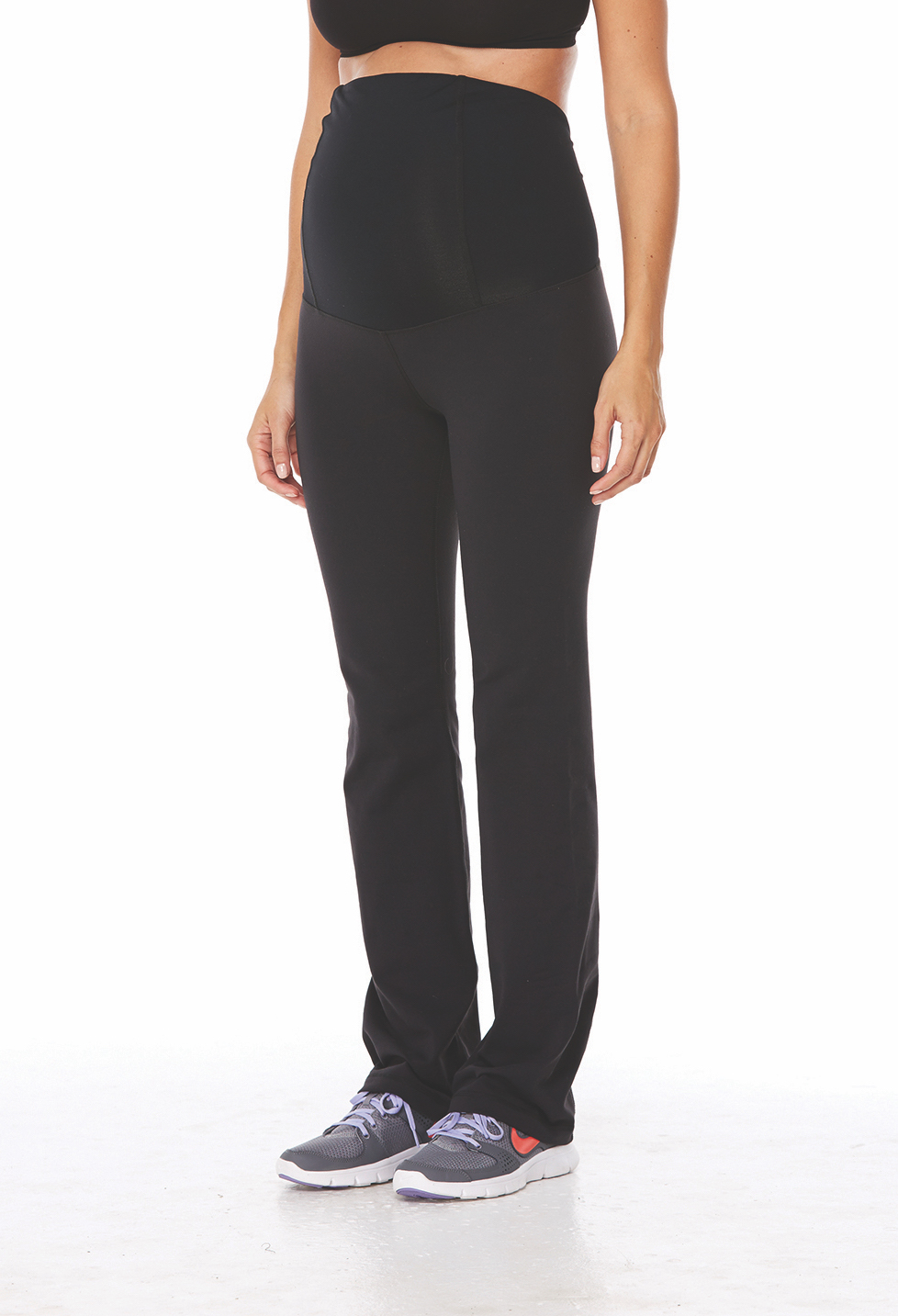 Active Long Pant ft. Crossover Panel® - • Crossover Panel® provides gentle support to the lower back as your belly grows.•Contoured panel accommodates a growing belly.•Four-way stretch fabric allows full range of motion.•Moisture-wicking and antimicrobial.•Flatlock stitching minimizes chafe.•Wear up or folded down for versatile comfort before and after baby.