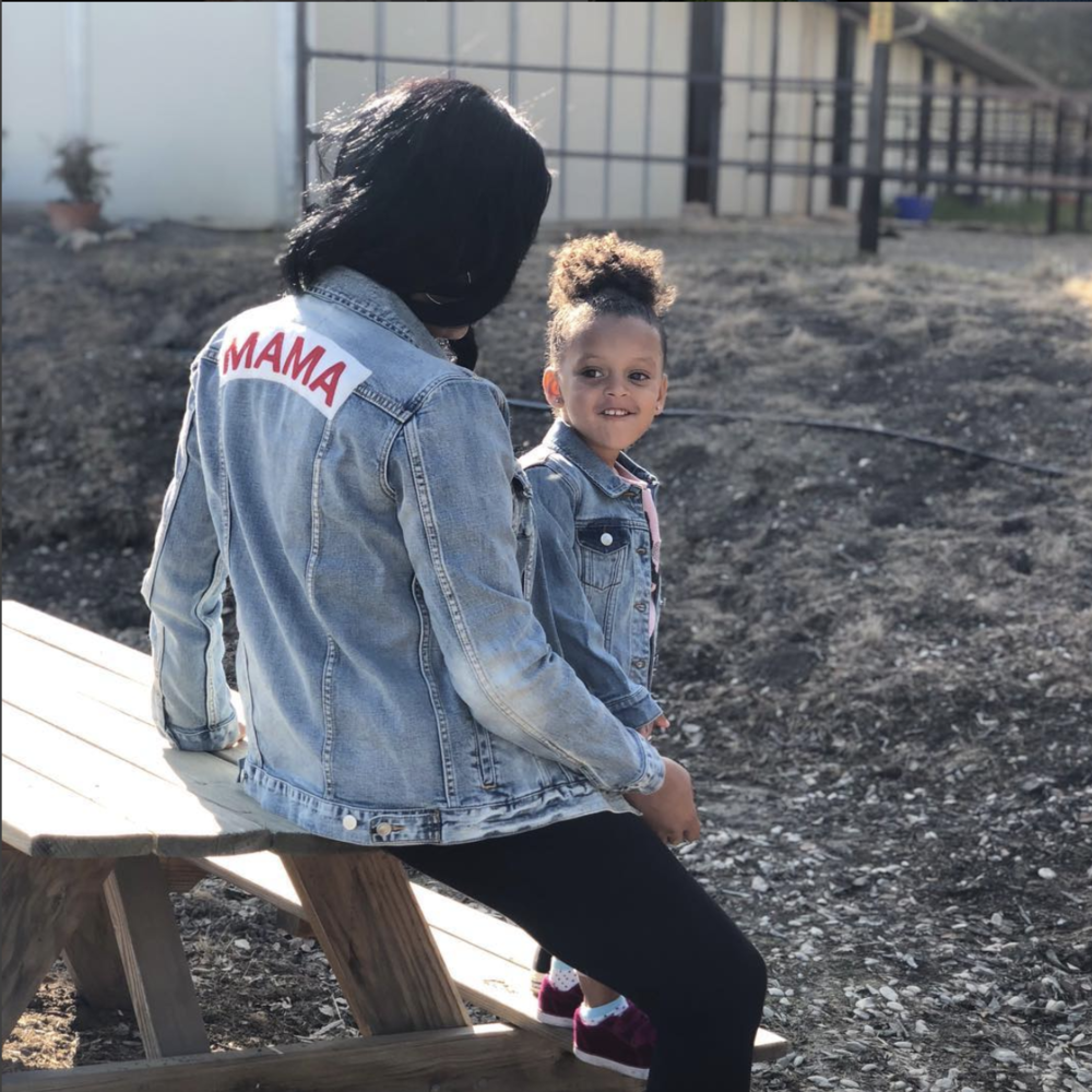 Mama Denim Jacket / Ingrid & Isabel Maternity • @ayeshacurry