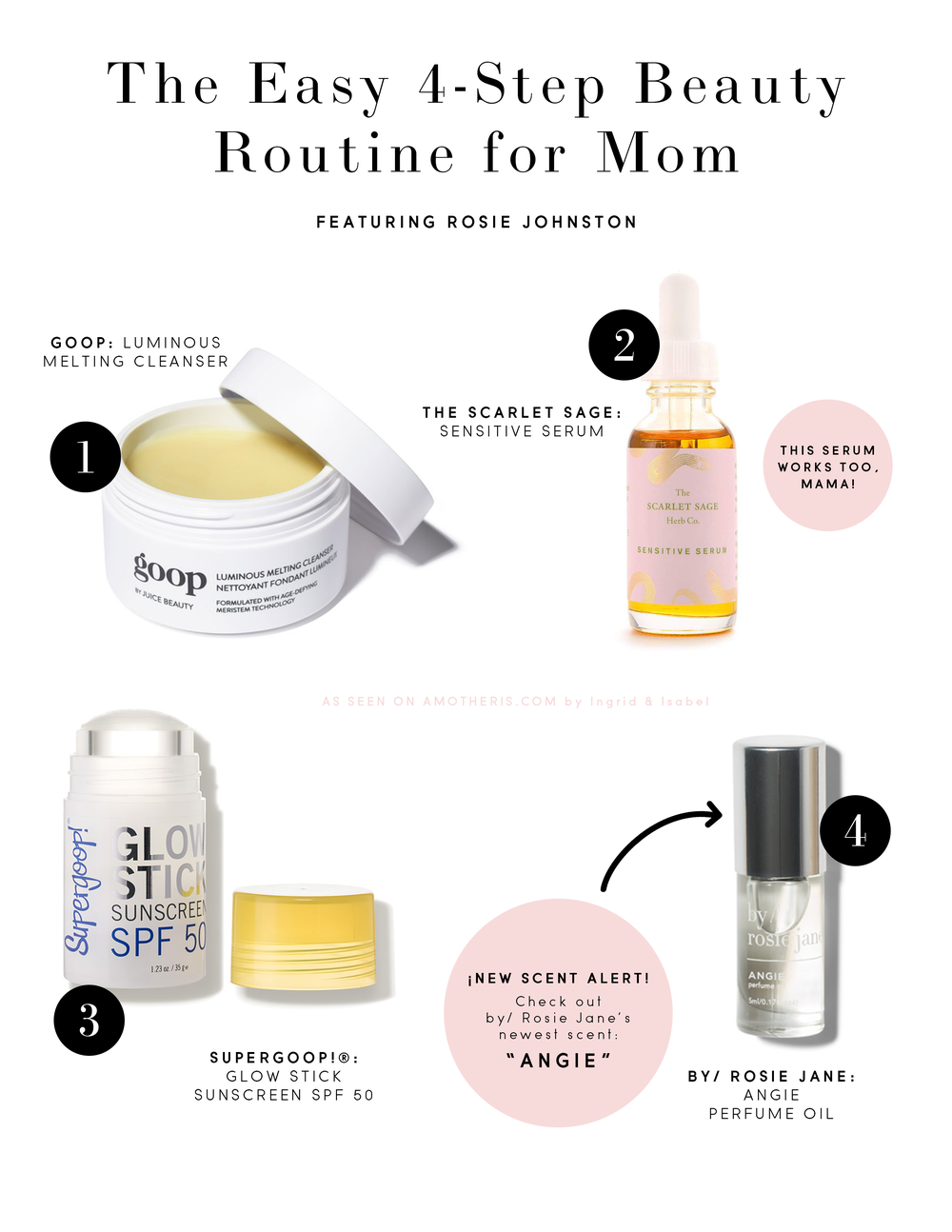 The Easy 4-Step Beauty Routine For Mom • A Mother Is, the blog All For Mom • Ingrid & Isabel