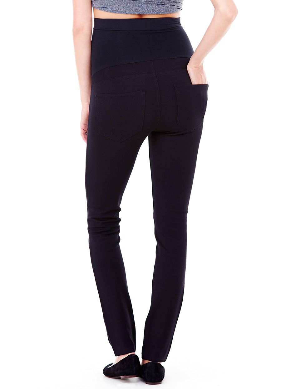PONTE CIGARETTE LEG PANT ft. BELLABAND PANEL  — Ingrid & Isabel