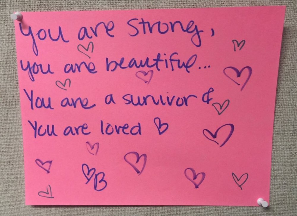 You are strong,  You are beautiful…  You are a survivor &  You are loved.
