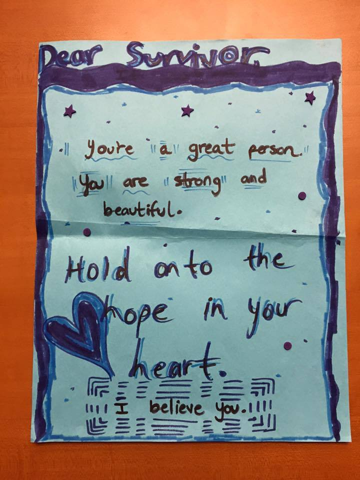Dear Survivor,  You're a great person. You are strong and beautiful. Hold onto the hope in your heart. I believe you.