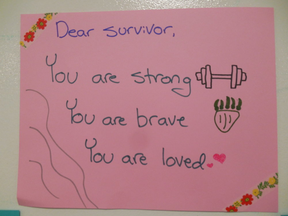 Dear Survivor,  You are strong You are brave You are loved