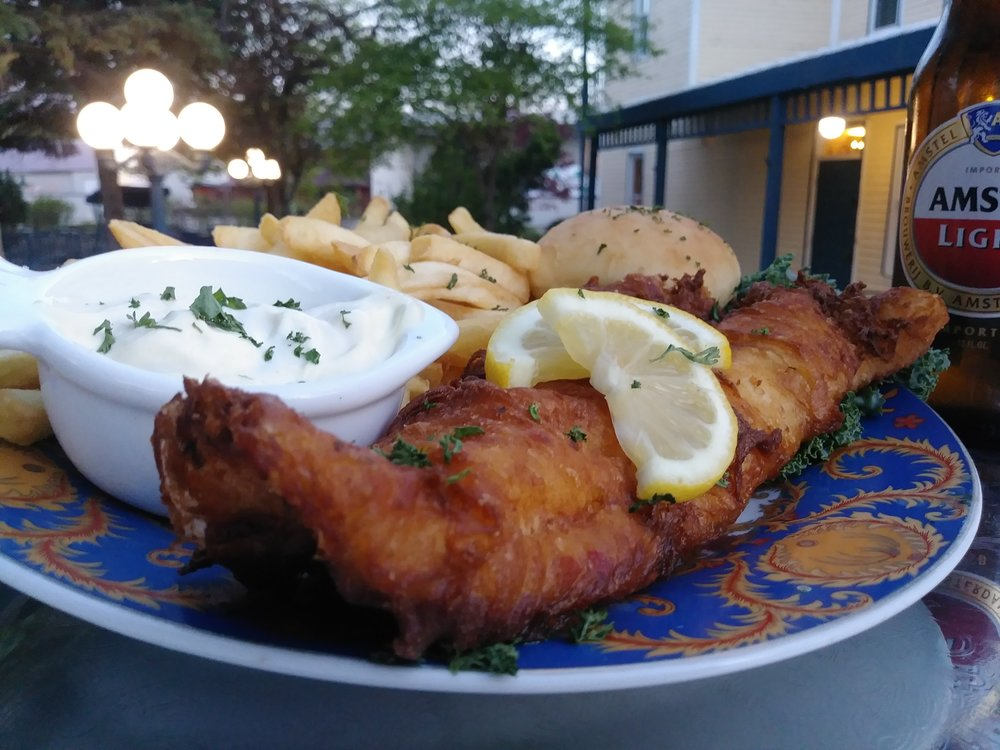 hand battered walleye filet - A wallet filet tossed in our homemade light & crispy batter, then deep fried to a golden brown perfection $17.99