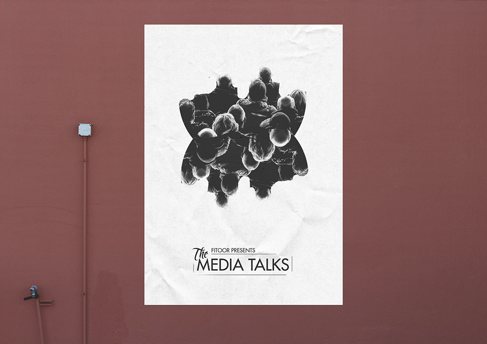 A poster for Media Talks, an event held to bring young inspiring locals together. The idea was to convey that the speakers and their stories are no different than those of the people.