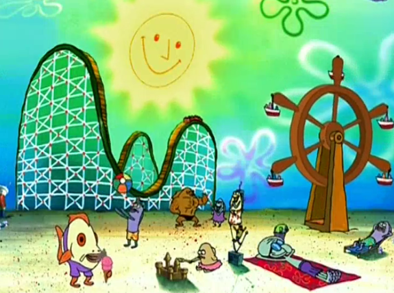 * Notice: Squidward straight posted soaking up rays.