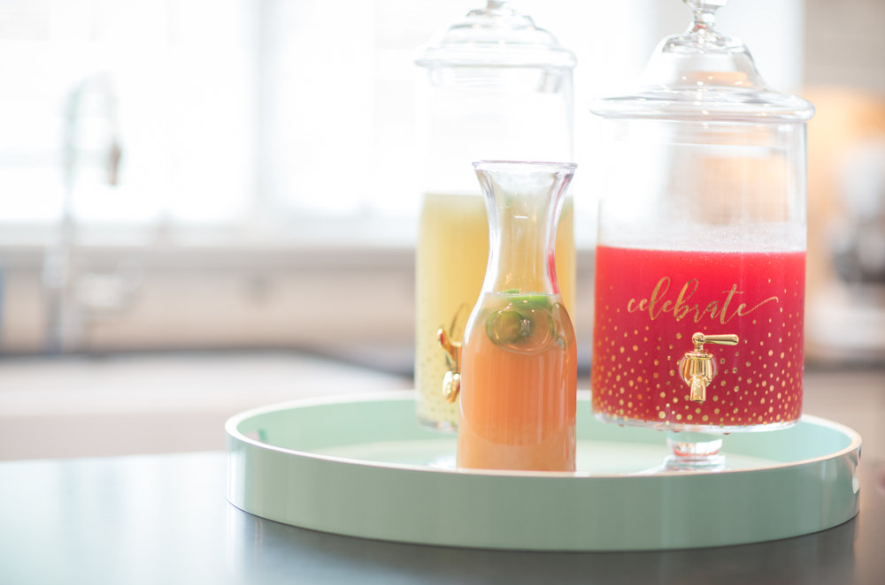 Pictured here (photos by  Bridging Her Story ) Sour Cherry Lemonade, the Paloma, & Caipirinha