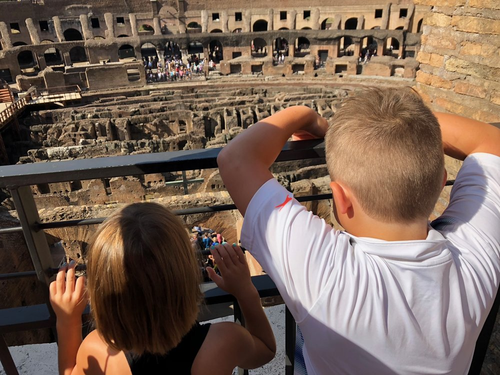 """This place is HOW old, Mama?"" Said one million times at the Colosseum."