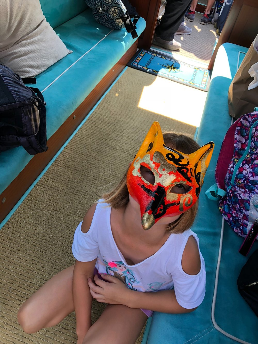 Vivian made her own Carnival Mask at a workshop (where we made 8 masks, all gorgeous!)