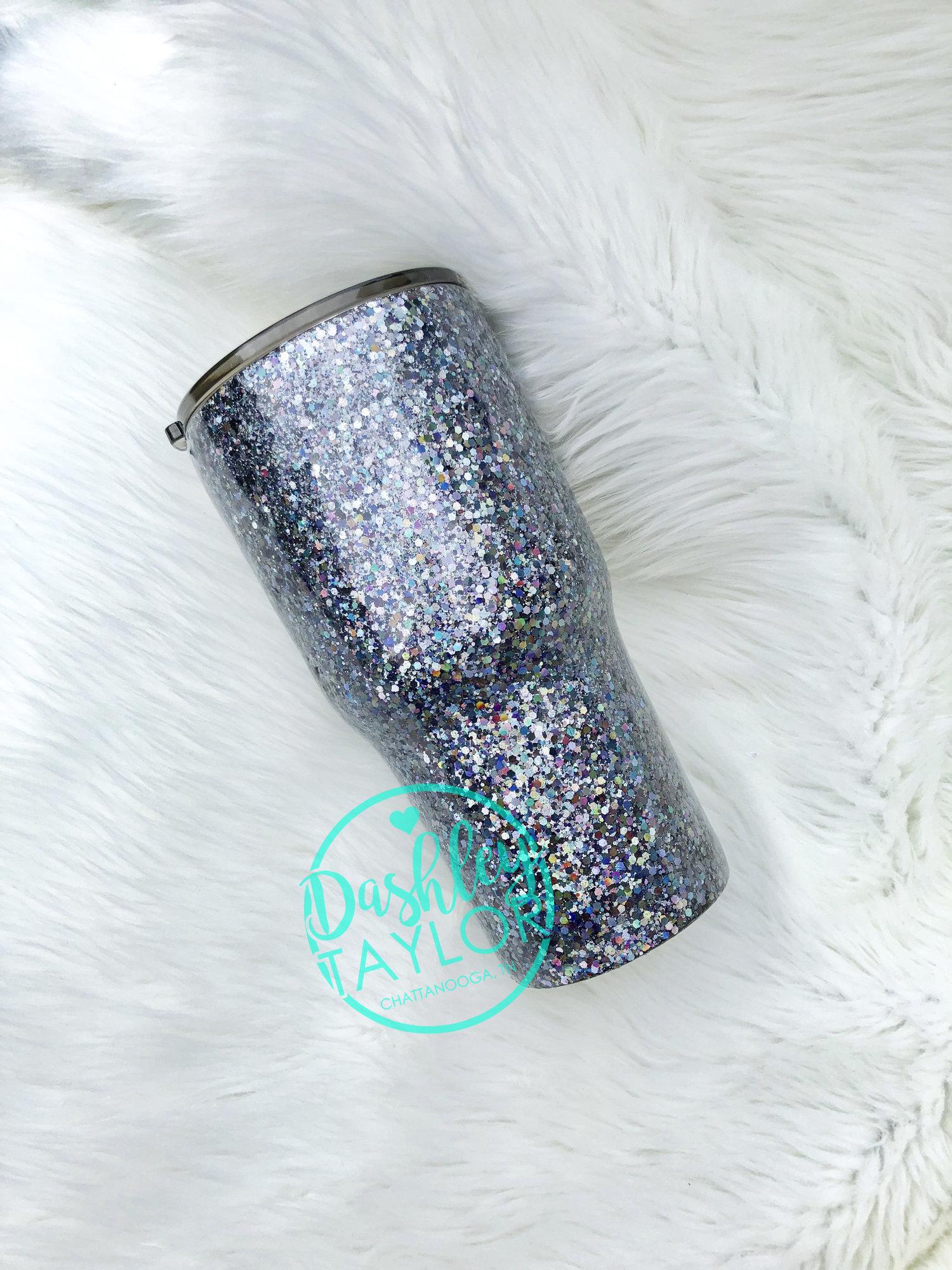 a4cd0d8ee01 Gunmetal Galaxy Shimmer Glitter Tumbler — Dashley Taylor